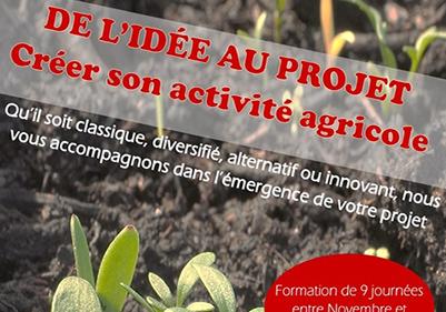 De l'idée au projet 2019 : Créer son activité agricole